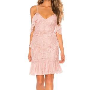 Bardot Pink Valorie Lace Dress Size Large